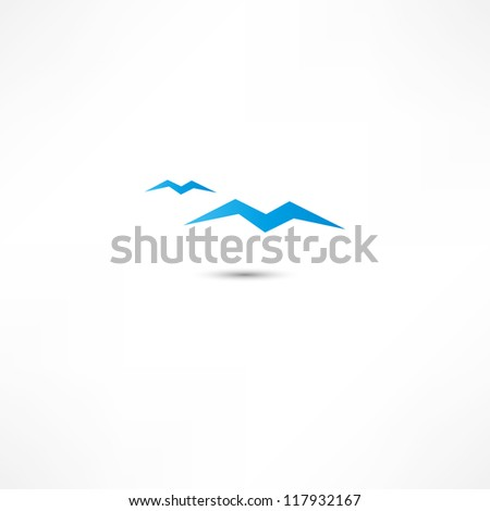 Gulls Icon - stock vector
