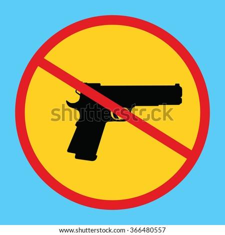 gun ban forbidden concept icon isolated weapon control - stock vector
