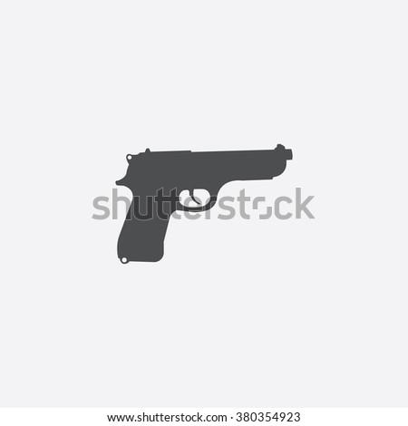 gun Icon Vector. gun Icon Art. gun Icon Picture. gun Icon Image. gun Icon logo. gun Icon Sign. gun Icon Flat. gun Icon design. gun icon illustration. gun vector design. gun app icon. white background - stock vector
