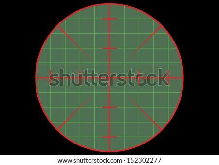 Gun Sight Crosshair. Vector - stock vector