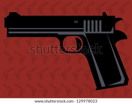 Gun, vector illustration - stock vector