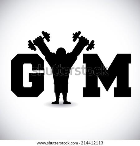gym design over gray background vector illustration - stock vector