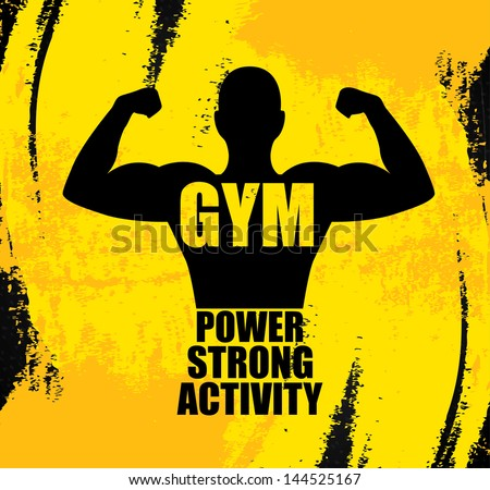 gym design over yellow background vector illustration - stock vector