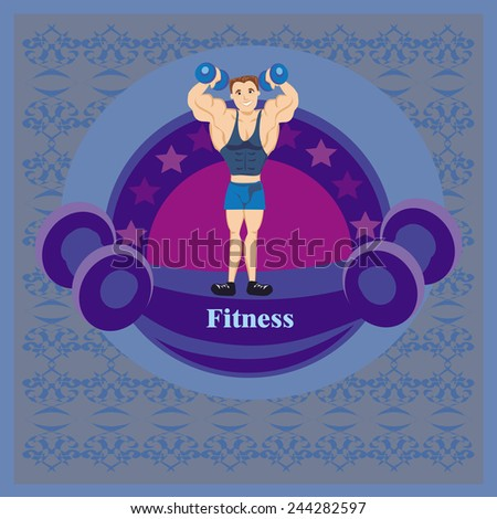 Gym label - stock vector