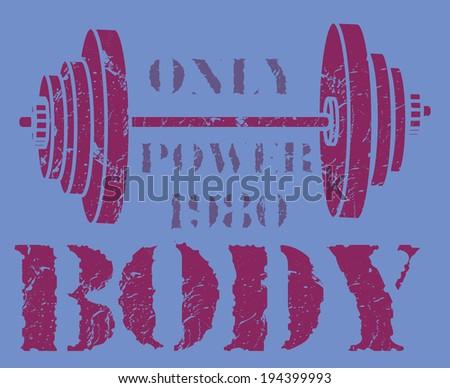 gym sports vector art - stock vector