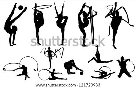 Gymnastics - stock vector