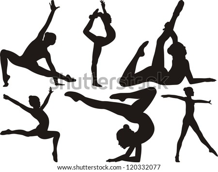 gymnastics and fitness - stock vector