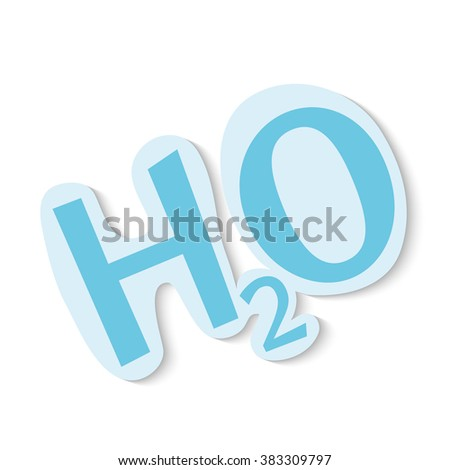 H2O icon on white background.vector illustration. - stock vector