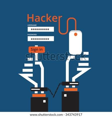 Hackers vector design - stock vector