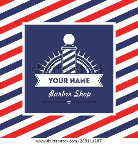 Hair salon barber shop sign and services design template - stock vector