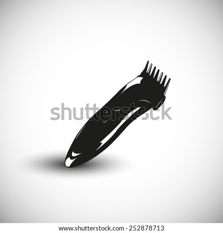 Hairclipper illustration - 3d view design. - stock vector