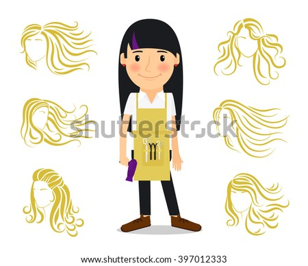 beautician uniform stock illustrations cartoons