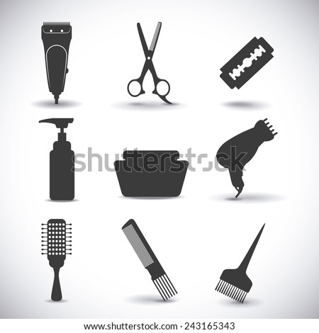 hairdressing icon design, vector illustration eps10 graphic  - stock vector