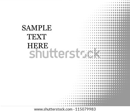 Halftone background for text  template - stock vector