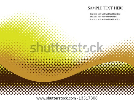 Halftone background. Vector illustration with space for text or logo - stock vector