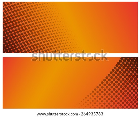 Halftone backgrounds with copy space - stock vector
