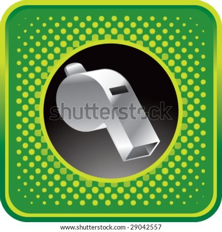 halftone button whistle - stock vector