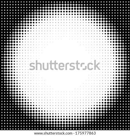 Halftone circle background - stock vector