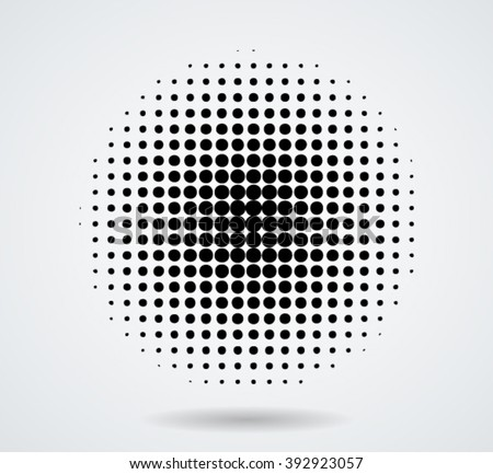 Halftone dots in circle form. - stock vector