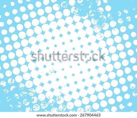 Halftone Grunge Background - stock vector