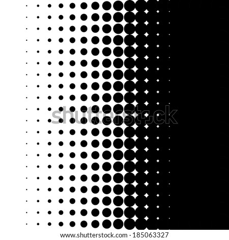 Halftone pattern background texture, round spot shapes, vintage or retro graphic, usable as decorative element. - stock vector
