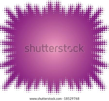 halftone splatter (halftone design element set) - stock vector