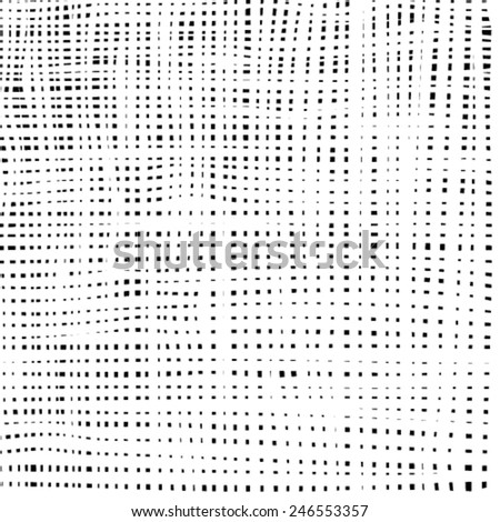 Halftone spot line grunge texture for your design. - stock vector