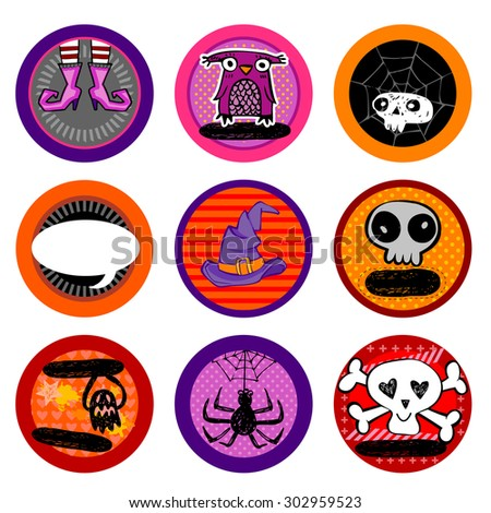 Hallooween Vector drink coasters for any party. - stock vector