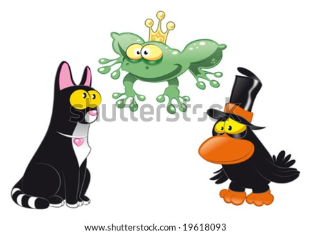 Halloween Animals - stock vector