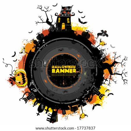 Halloween Back round frame. To see similar, please VISIT MY GALLERY.   - stock vector