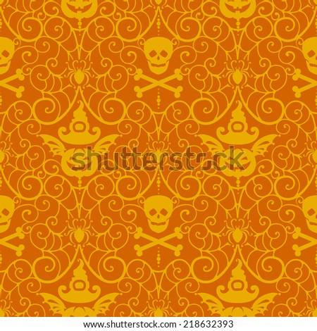 Halloween background.Autumn vector illustration - stock vector