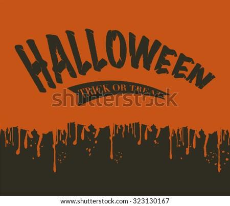 Halloween blood splatter - stock vector