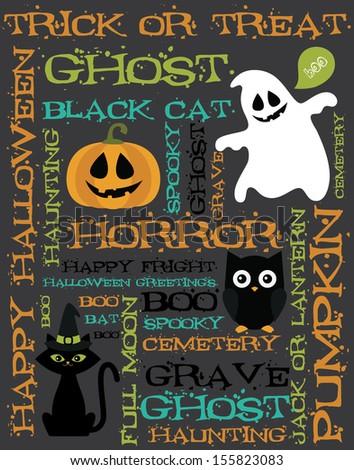 halloween card design. vector illustration - stock vector
