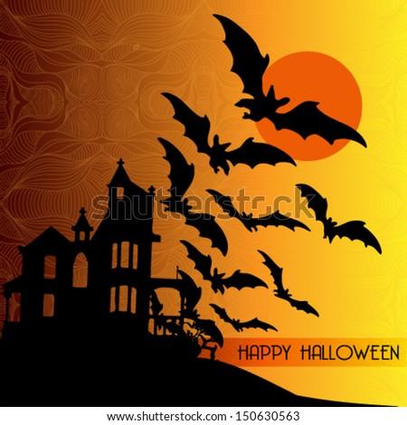 Halloween card vector illustration - stock vector