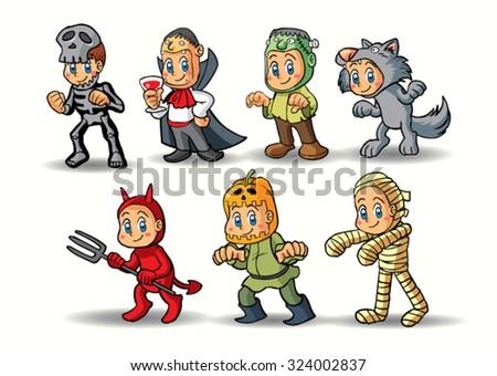 Halloween character - stock vector