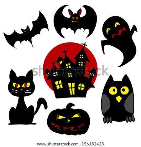 Halloween character hand writing cartoon. - stock vector