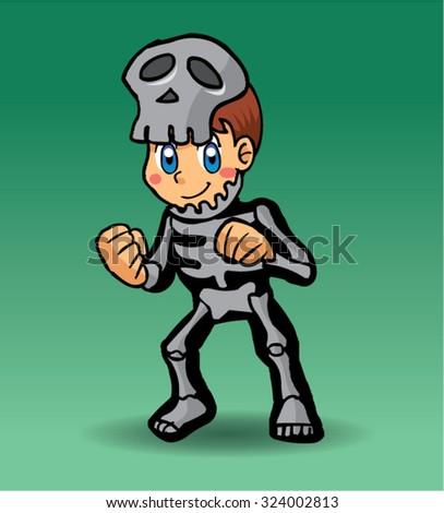 Halloween character skull - stock vector