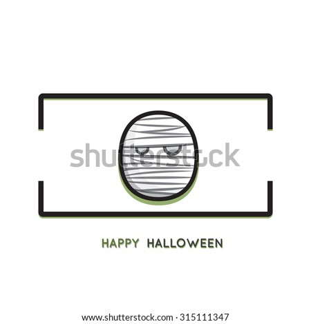 Halloween concept background with funny mummies - stock vector