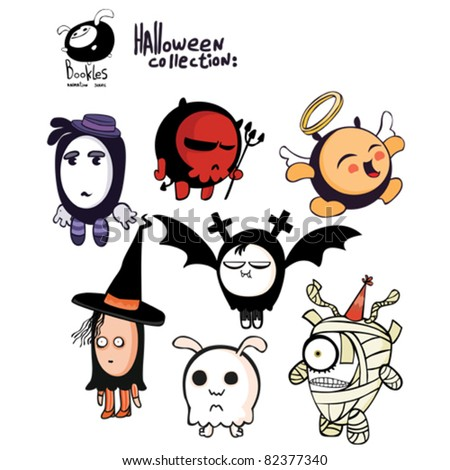 Halloween  creatures - stock vector