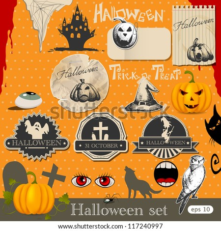 Halloween design elements - stock vector
