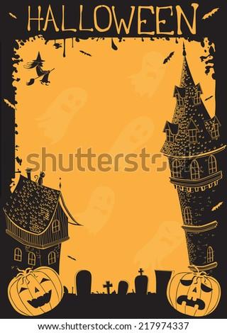 Halloween Frame - stock vector