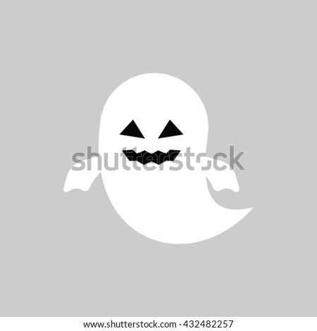 Halloween Ghost icon - stock vector