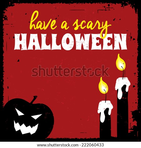 Halloween greeting card. Holiday and celebration concept. - stock vector