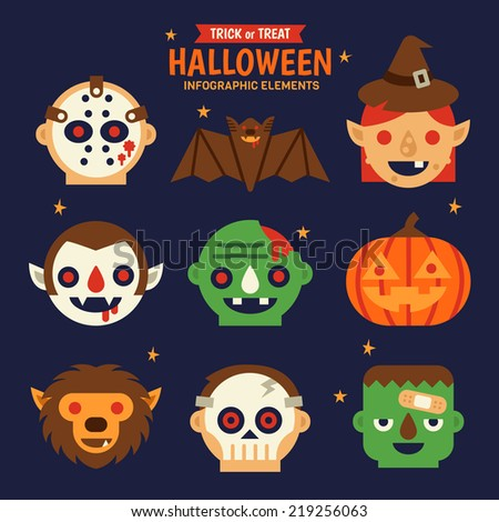 Halloween Infographic Elements  - stock vector