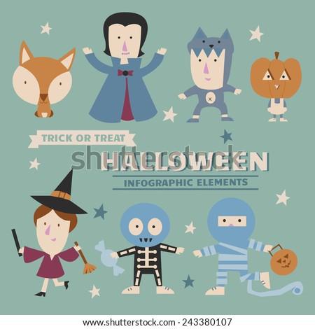 Halloween infographic elements - stock vector