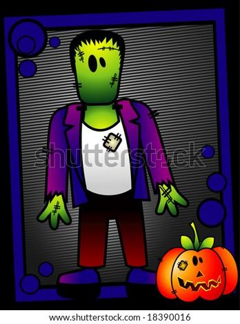 halloween monster vector illustration - stock vector