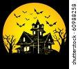 Halloween night - stock vector