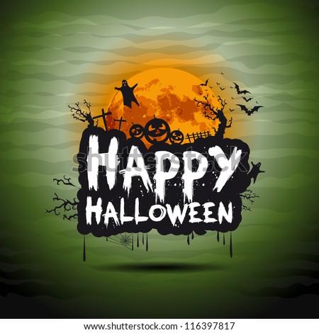 Halloween night sign - stock vector