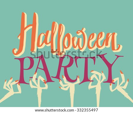 Halloween party. - stock vector