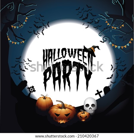 Halloween Party design EPS 10 vector - stock vector